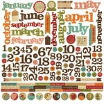 Memory Works - Simple Stories - Year-o-graphy Collection - 12 x 12 Cardstock Stickers - Calendar