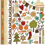 Memory Works - Simple Stories - Year-o-graphy Collection - 12 x 12 Cardstock Stickers - Fundamentals