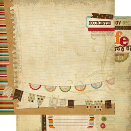 Memory Works - Simple Stories - Year-o-graphy Collection - 12 x 12 Double Sided Paper - Year-in-Review