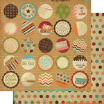Memory Works - Simple Stories - Year-o-graphy Collection - 12 x 12 Double Sided Paper - Life Snippits