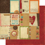 Memory Works - Simple Stories - Year-o-graphy Collection - 12 x 12 Double Sided Paper - Flash Cards