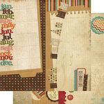 Memory Works - Simple Stories - Year-o-graphy Collection - 12 x 12 Double Sided Paper - Page Elements