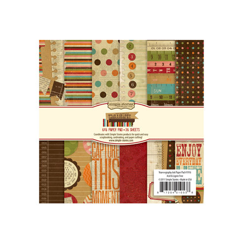 Memory Works - Simple Stories - Year-o-graphy Collection - 6 x 6 Paper Pad
