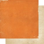 Memory Works - Simple Stories - Year-o-graphy Collection - 12 x 12 Double Sided Paper - Orange