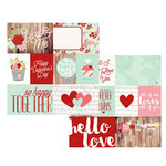 Simple Stories - You and Me Collection - Simple Sets - 12 x 12 Double Sided Paper - Elements 1