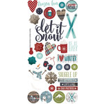 Simple Stories - Snow Patrol Collection - Simple Sets - Cardstock Stickers - Fundamentals