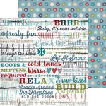 Simple Stories - Snow Patrol Collection - Simple Sets - 12 x 12 Double Sided Paper - Snow Day