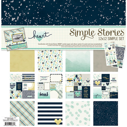 Simple Stories - Heart Collection - Simple Sets - 12 x 12 Collection Kit