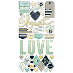Simple Stories - Heart Collection - Simple Sets - Cardstock Stickers - Fundamentals