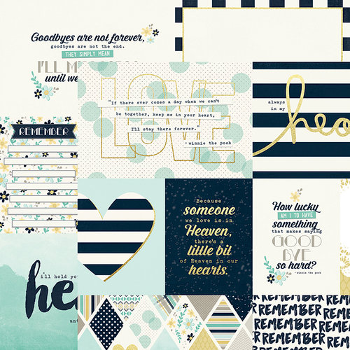 Simple Stories - Heart Collection - Simple Sets - 12 x 12 Double Sided Paper - Elements 1