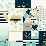 Simple Stories - Heart Collection - Simple Sets - 12 x 12 Double Sided Paper - Elements 2