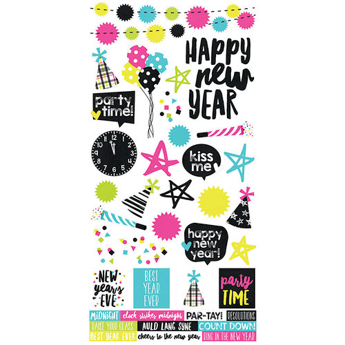 Simple Stories Happy New Year Stickers