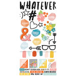Simple Stories - Hashtag Whatever Collection - Cardstock Stickers