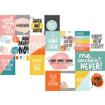 Simple Stories - Hashtag Whatever Collection - 12 x 12 Double Sided Paper - 3 x 4 and 4 x 6 Journaling Card Elements