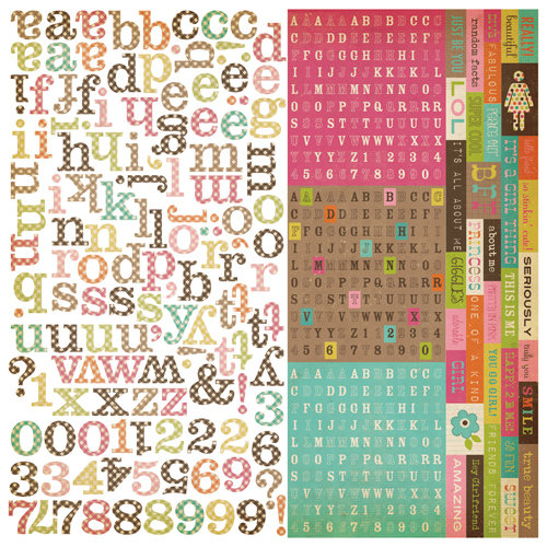 Simple Stories - Fab-U-lous Collection - 12 x 12 Cardstock Stickers - Expressions