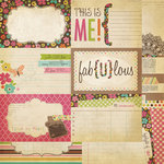 Simple Stories - Fab-U-lous Collection - 12 x 12 Double Sided Paper - Journaling Card Elements 1