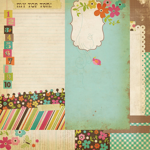 Simple Stories - Fab-U-lous Collection - 12 x 12 Double Sided Paper - Page Elements