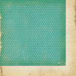 Simple Stories - Fab-U-lous Collection - 12 x 12 Double Sided Paper - Teal Dot