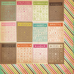 Simple Stories - Fab-U-lous Collection - 12 x 12 Double Sided Paper - Bingo Card