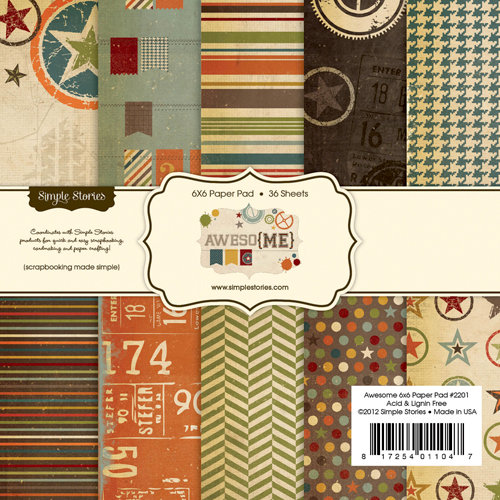 Simple Stories - Awesome Collection - 6 x 6 Paper Pad