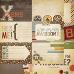 Simple Stories - Awesome Collection - 12 x 12 Double Sided Paper - Journaling Card Elements 1