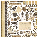 Simple Stories - Documented Collection - 12 x 12 Cardstock Stickers - Fundamentals