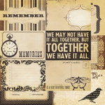 Simple Stories - Documented Collection - 12 x 12 Double Sided Paper - Journaling Card Elements 2