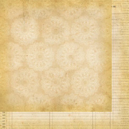 Simple Stories - Documented Collection - 12 x 12 Double Sided Paper - Doilies