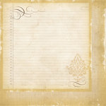 Simple Stories - Documented Collection - 12 x 12 Double Sided Paper - Damask Ledger