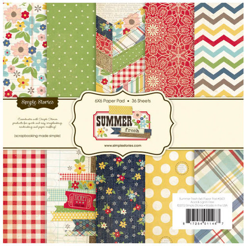 Simple Stories - Summer Fresh Collection - 6 x 6 Paper Pad
