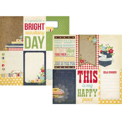 Simple Stories - Summer Fresh Collection - 12 x 12 Double Sided Paper - Vertical Journaling Card Elements