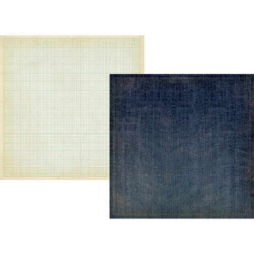 Simple Stories - Summer Fresh Collection - 12 x 12 Double Sided Paper - Denim