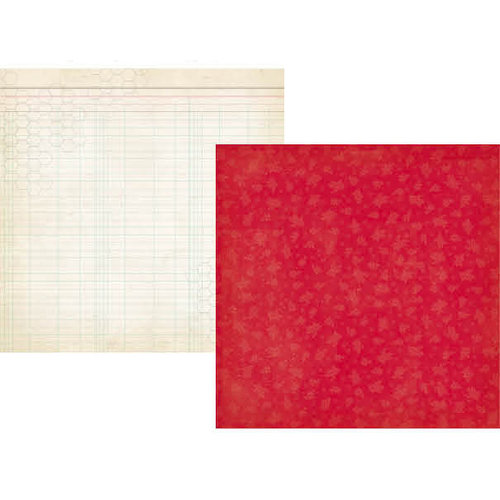 Simple Stories - Summer Fresh Collection - 12 x 12 Double Sided Paper - Red Flower