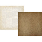 Simple Stories - Summer Fresh Collection - 12 x 12 Double Sided Paper - Burlap