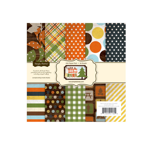 Simple Stories - Take a Hike Collection - 6 x 6 Paper Pad