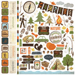 Simple Stories - Take a Hike Collection - 12 x 12 Cardstock Stickers - Fundamentals