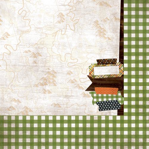 Simple Stories - Take a Hike Collection - 12 x 12 Double Sided Paper - Happy Trails