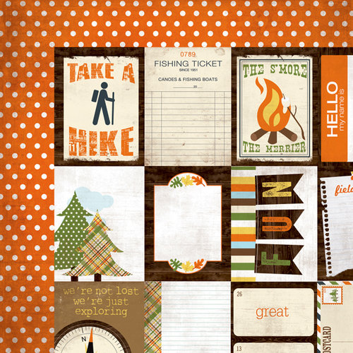 Simple Stories - Take a Hike Collection - 12 x 12 Double Sided Paper - Flash Cards