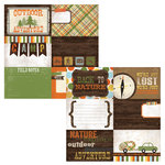 Simple Stories - Take a Hike Collection - 12 x 12 Double Sided Paper - Journaling Card Elements 2