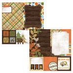Simple Stories - Take a Hike Collection - 12 x 12 Double Sided Paper - Quote and Photo Mat Elements