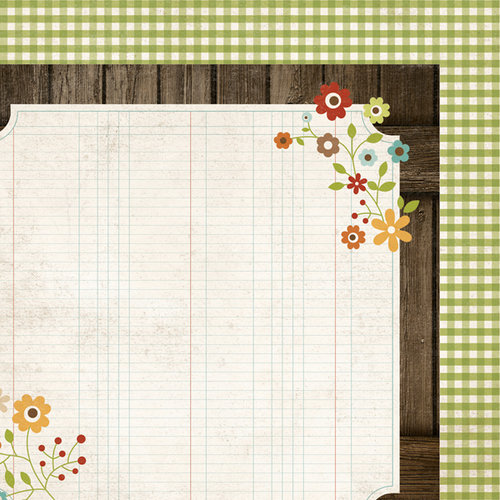 Simple Stories - Harvest Lane Collection - 12 x 12 Double Sided Paper - Homespun