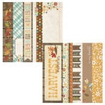 Simple Stories - Harvest Lane Collection - 12 x 12 Double Sided Paper - Border and Title Strip Elements