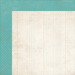 Simple Stories - Harvest Lane Collection - 12 x 12 Double Sided Paper - Teal Dot