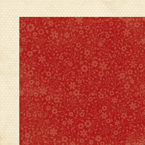 Simple Stories - Harvest Lane Collection - 12 x 12 Double Sided Paper - Red Floral