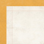 Simple Stories - Harvest Lane Collection - 12 x 12 Double Sided Paper - Yellow Quilt