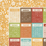 Simple Stories - Harvest Lane Collection - 12 x 12 Double Sided Paper - Bingo Cards