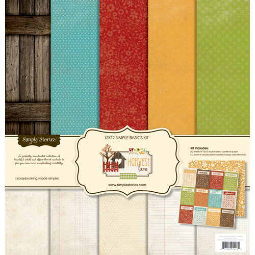 Simple Stories - Harvest Lane Collection - 12 x 12 Simple Basics Kit