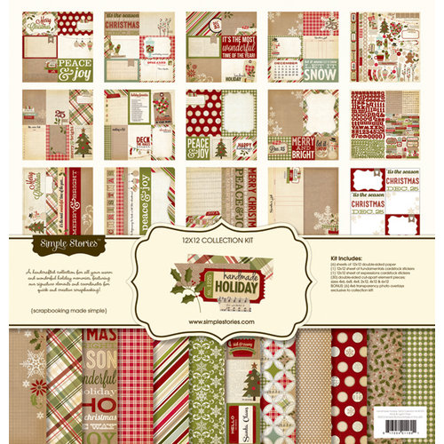 Simple Stories - Handmade Holiday Collection - Christmas - 12 x 12 Collection Kit