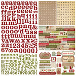 Simple Stories - Handmade Holiday Collection - Christmas - 12 x 12 Cardstock Stickers - Expressions