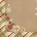 Simple Stories - Handmade Holiday Collection - Christmas - 12 x 12 Double Sided Paper - Winter Wonderland